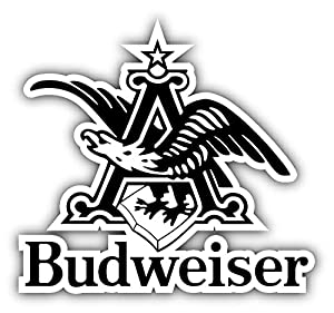 "Amazon.com: Budweiser Beer Logo Eagle Car Bumper Sticker Decal 13"" X"