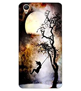 ColourCraft Scary Night Design Back Case Cover for OPPO F1 PLUS