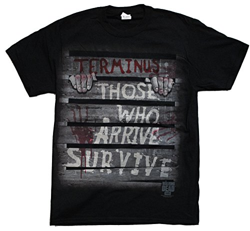 The Walking Dead Terminus Captures Survivor Adult Men's Black T-shirt