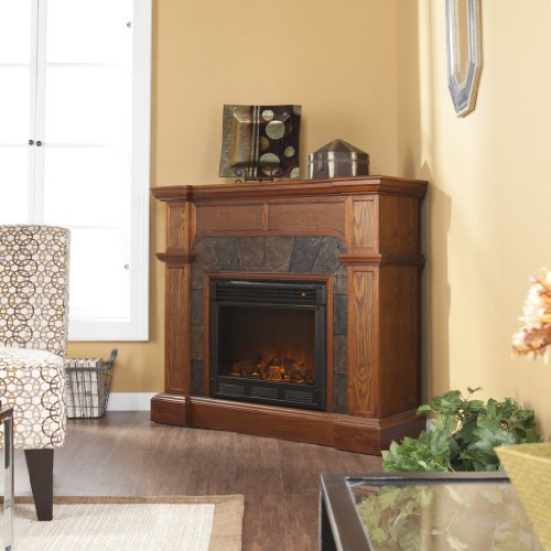 Paonia Mission Oak Electric Fireplace