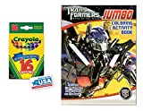 Red Dark of The Moon Coloring & Activities Book and 16 Crayola Crayons Box (Pack of 2)