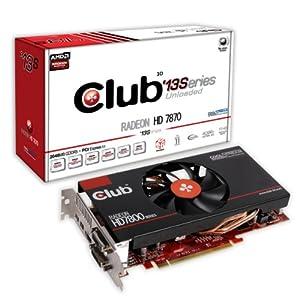 Club 3D AMD Radeon HD 7870 13 Series 2GB DDR5 Graphics Card