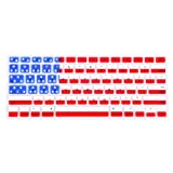 HDE Silicone Rubber Keyboard Skin for Macbook & Macbook Pro (American Flag)