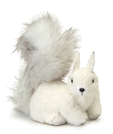 Snowy Winter White Right Facing Fluffy Tail Sisal Squirrel Christmas Table Top Decoration by Melrose