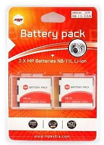 2 x Batería MP EXTRA ® nb-11l , NB11L para cámaras digitales CANON  Electrónica Más información y comentarios de clientes