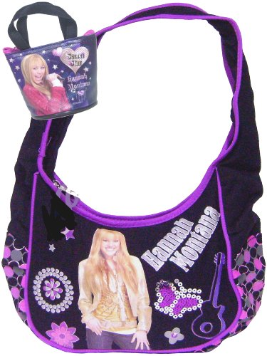 Disney Channel  Hannah Montana Purse Bag  Fashion Purse  Purple and Black