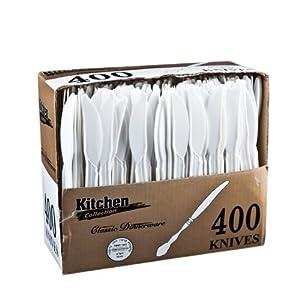 Kitchen Collection White Knives Medium Weight 400Cs