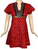 Party Wear Tunic & Top Womens Clothing Blouse-Indian Boho Ladies Casual Wear Kurta Size XS