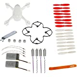 AVAWO for Hubsan X4 H107D 8-in-1 Quadcopter White Spare Parts Crash Pack(As shown)+Free Gift