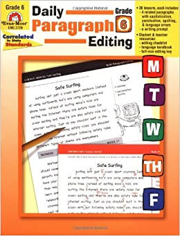 daily paragraph editing grade 6 answers