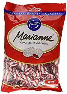 Amazon.com : Fazer Marianne Chocolate Filled Mint Candies Imported