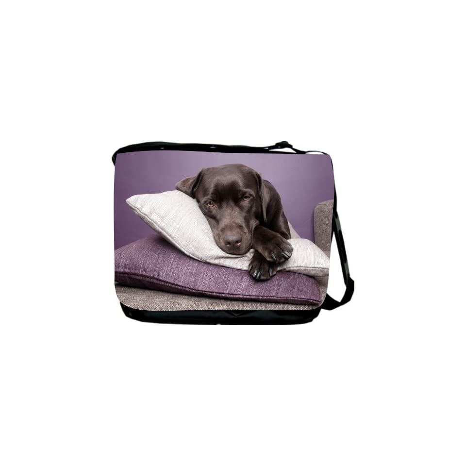 Rikki KnightTM Black Labrador Dog on Pillows Messenger Bag     Shoulder Bag   School Bag for School or Work   With Matching coin Purse Computers & Accessories