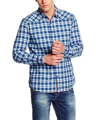 LTB Jeans Hemd Kalakef blau/weiß