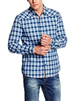 LTB Jeans Camisa Hombre Kalakef (Azul / Blanco)