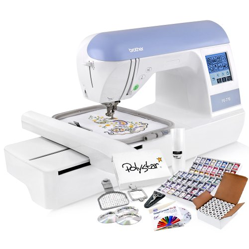 Lowest Prices! Brother PE770 (PE 770) Embroidery Machine w/ USB Flash Port and Grand Slam Package In...