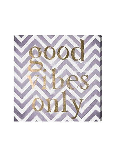 Oliver Gal 'Good Vibes Only Violet' Canvas Art