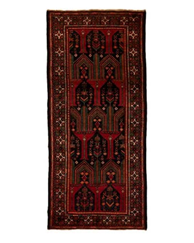 Tribal Collection Oriental Rug, Black, 4' 3 x 9' 6
