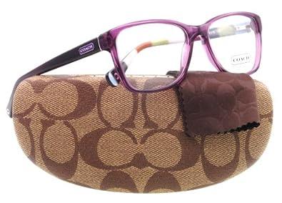 Coach Eyeglass Frames Hc6013 : Amazon.com: COACH HC 6013 Eyeglasses 5043 Purple Demo Lens ...