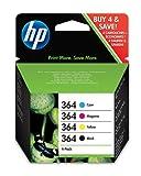 HP 364 Combo Pack - 4-pack - black, yellow, cyan, magenta - original - ink cartridge