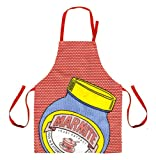 Marmite 100% Cotton RCA Apron, Dotty Red