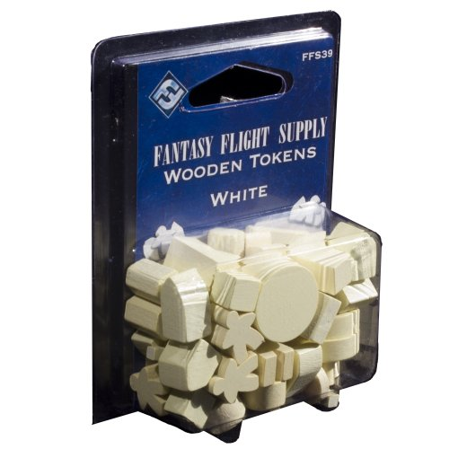 Fantasy Flight Supply: Wood Tokens: White - 1