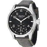 Alpina Startimer Pilot Black Dial Grey Fabric Strap Mens Watch AL-280B4S6