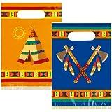 NEU Geschenktüte Indianer Annawan, 6 Stk. 23x16cm