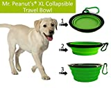 Mr-Peanuts-Extra-Large-34oz-7-Diameter-Collapsible-Dog-Bowls-for-Large-Med-Dogs-2-Pak-Dishwasher-Safe-BPA-FREE-Food-Grade-Silicone-Portable-Foldable-Travel-Pet-Bowls-for-Journeys-Hikes