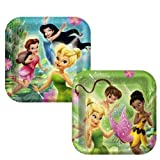 Disney Fairies Tinkerbell Party Square Dinner Plates