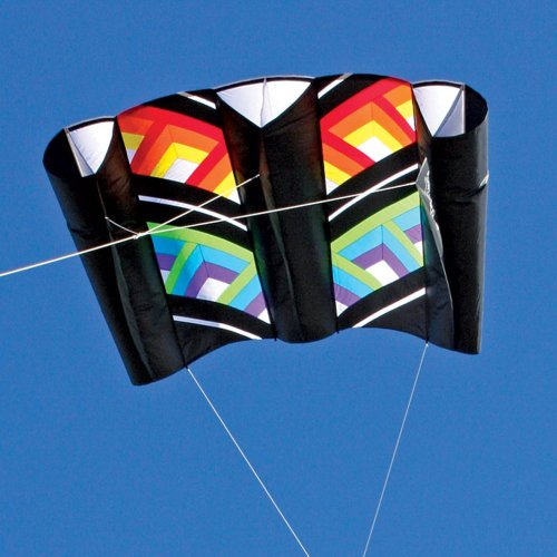 Cubic Black Rainbow Power Sled 36 Kite