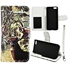 Camo Tail Deer Flip Wallet Apple Iphone 5C Leather Pouch With ID Slot at&t. Verizon