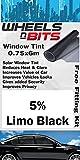 Fiat Stilo Panda Window Tint 0.75 x 6M Metres 5% Limo Black Solar Film Tint UV