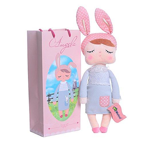 Metoo Serie fantasia d'Angela coniglio grigio bambola bambini bambino giocattoli di peluche regali di compleanno 12''