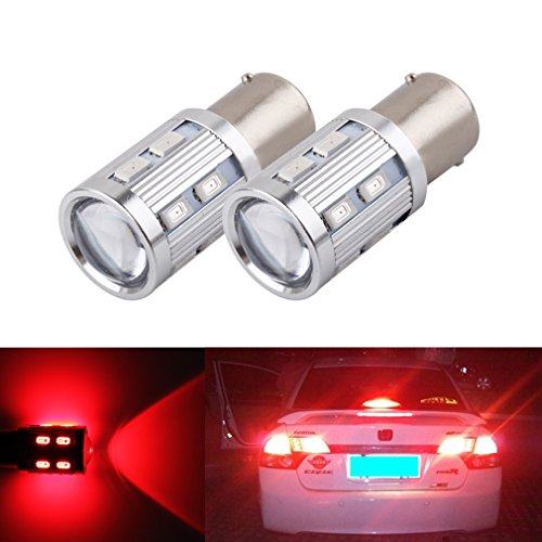 S&D 2 X 1156 BA15S Car Brake Tail Light Reverse Signal Backup Bulbs - Advanced Bright 360-Degree Illumination Cree led Bulbs Red (R5w Bulb compare prices)