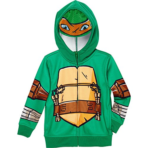 Superhero Little Boys' Zip-Up Fleece Hoodie With Mesh Mask, 7, TM Ninja Turtles (Kids Ninja Turtle Sweatshirt compare prices)