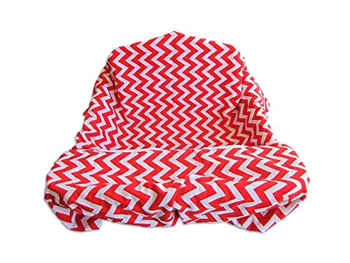 Shopping Cart & High Chair Cover Zig Zag (Red) front-824378