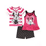 Disney Baby Girls Minnie 3 Piece Short Set
