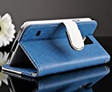 """myLife (TM) Navy Blue - Modern Design - Koskin Faux Leather (Card Cash and ID Holder + Magnetic Detachable Closing + Hand Strap) Slim Wallet for NEW Galaxy S5 (5G) Smartphone by Samsung (External Rugged Synthetic Leather With Magnetic Clip + Internal Secure Snap In Hard Rubberized Bumper Holder + Lifetime Warranty + Sealed Inside myLife Authorized Packaging) """"ADDITIONAL DETAILS: This lightweight Galaxy S5 wallet is made of durable and high quality synthetic leather. The leather itself is textured to prevent the wallet from slipping out of your hand while being handled. This wallet comes with a magnetic clasp."""""""