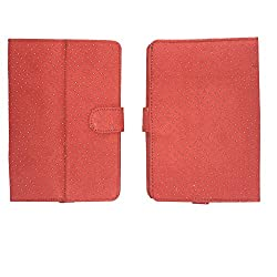 Brain Freezer G2 Silver Dotted Flip Flap Case Cover Pouch Carry Stand ForbsnlâChampion Wtab 706 Red