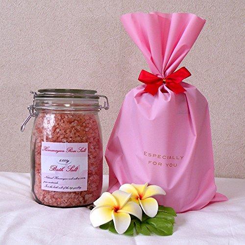 ヒマラヤ岩塩 バスソルト ローズソルト 小粒タイプ ギフトパック 1kg