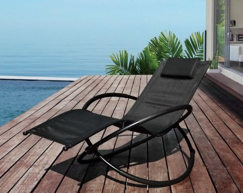 Moon Rocker Garden Sun Lounger Chair
