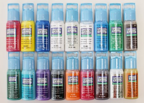 plaid promoggi gallery glass acrylic paint 2 ounce best