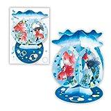 ホールマーク 暑中サマーグリーティングカード立体紙金魚鉢 671037