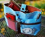 iGet (TM) Purse Organizer Insert Makeup Bag Cosmetic Travel Handbag (Baby Blue)