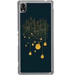 Casotec City Light Pattern Design 2D Hard Back Case Cover for Sony Xperia M4 Aqua