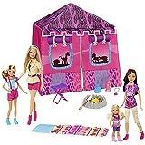 Barbie Sisters' Safari Tent Playset with 4 Dolls
