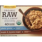 Betteroats Organic Raw Pure & Simple Instant Multigrain Hot Cereal With Flax, Oats, Barley, Rye, Quinoa, & Wheat...