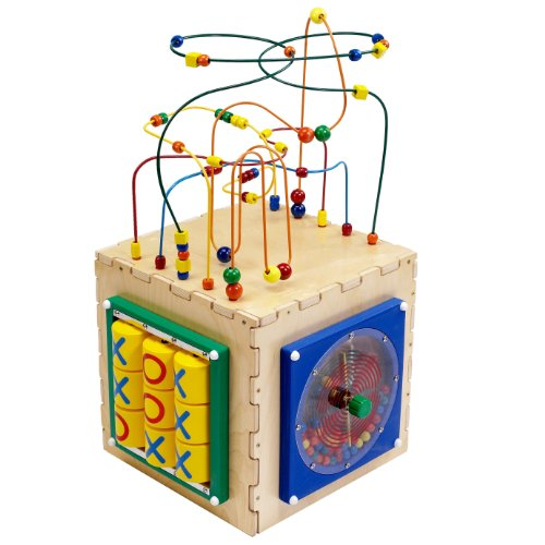 Busy Cube Five sides boast: Tic Tac Toe, Flipper Game, Traffic Memory Game, Fun Paddle Wheel and a Rollercoaster Bead Maze puzzle DBC7707