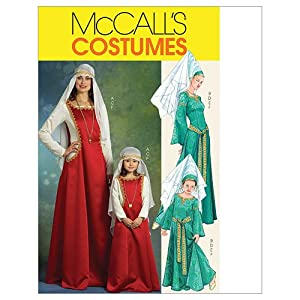 McCall's Patterns M5499 Misses'/Children's/ Girls' Medieval Costumes, Size KID [(3-4) (5-6) (7-8)]