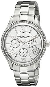 Stuhrling Original Women's 391LS.01 Lady Majestic Quartz Swarovski Stainless Steel Watch